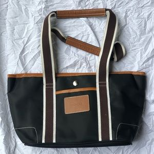 COACH Black Canvas Trimmed In Leather small tote